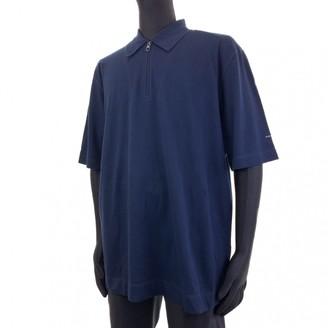 Salvatore Ferragamo Navy Cotton Shirts