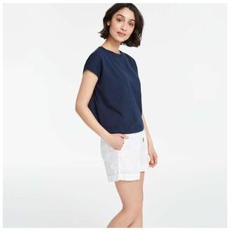 Joe Fresh Women's Poplin Shorts, White (Size S)