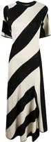 Stella McCartney striped-knit cape-style midi dress
