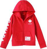 Joe Fresh Kid Girls' Canada Active Hoodie, Red (Size L)