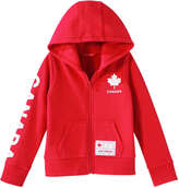 Joe Fresh Kid Girls' Canada Active Hoodie, Red (Size M)