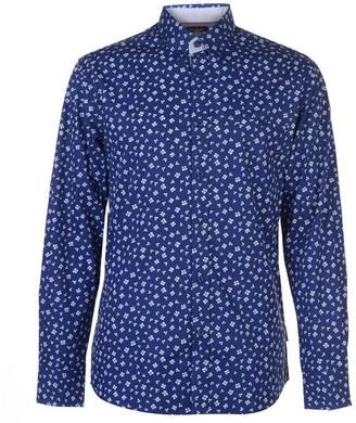 Pierre Cardin Long Sleeve Printed Shirt Mens