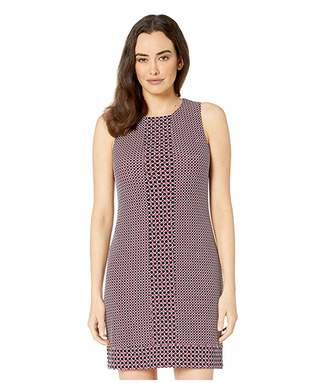 MICHAEL Michael Kors Tile Dot Sleeveless Border Dress