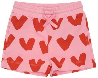 Stella McCartney Kids Heart Print Organic Cotton Shorts