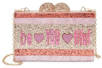Bari Lynn Be You Ti Ful Glitter Acrylic Box Bag