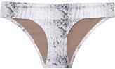 Heidi Klein Namibia Snake-print Bikini Briefs - Gray