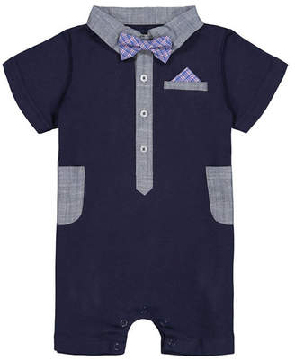 Beedle & Thread Baby Boy Romper with Bowtie