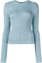 Jeremy Scott round neck pullover - women - Polyester/Rayon - 42