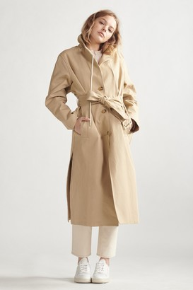 Thakoon Hooded Trench Coat Khaki