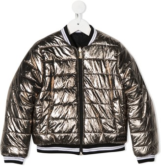Boss Kids Metallic Effect Padded Jacket