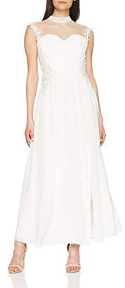 Little Mistress Women's Ivory Applique Bridal Dress Party, White
