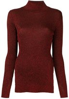 Cédric Charlier slit sides pullover - women - Polyester/Rayon - 44