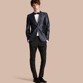 Burberry Slim Fit Tailored Silk Jacket