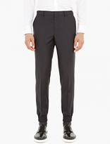 Wooyoungmi Black Cuffed Hem Trousers