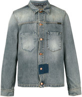 Nudie Jeans denim patch detail jacket - men - Cotton - S
