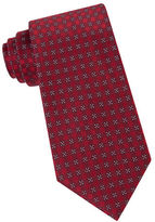 Calvin Klein Four Square Silk-Blend Tie