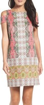 Maggy London Women's Border Print Shift Dress