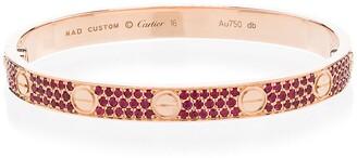 Mad Paris customised Cartier Love 18kt rose gold bracelet
