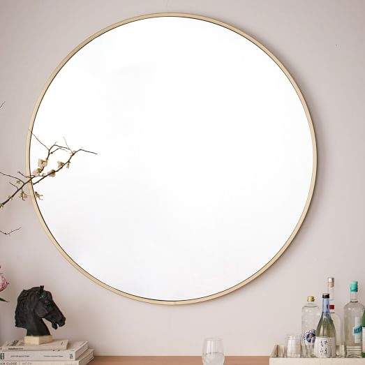 "Metal Framed 48"" Round Mirror"