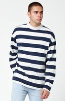 PacSun Grizzly Striped Mock Neck Long Sleeve T-Shirt