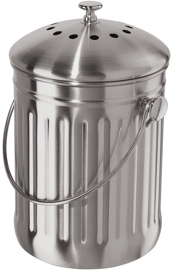 Oggi stainless steel countertop compost pail