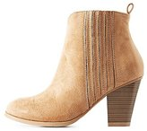 Charlotte Russe Side Gore Ankle Booties