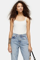 Topshop PETITE Cream Lace Bodysuit