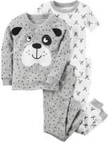 Carter's Toddler Boy 4-pc. Dog Tops & Pants Pajama Set