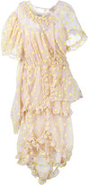 Simone Rocha floral embroidered frill dress - women - Cotton/Polyamide/Polyester/PBT Elite - 10