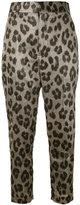 Haider Ackermann leopard print tapered trousers - women - Silk/Polyester/Spandex/Elastane - 38