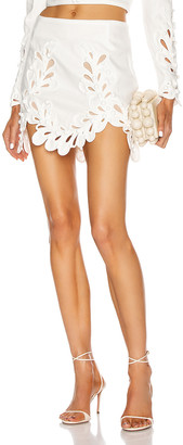 Zimmermann Brightside Rouleaux Mini Skirt in Ivory | FWRD