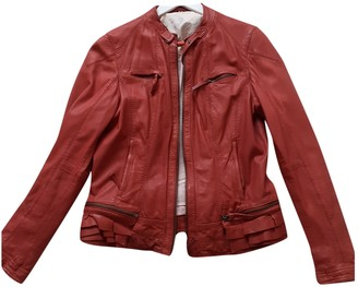 Oakwood Burgundy Leather Jackets