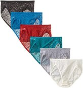 Fruit of the Loom Women's 6 Pack All Over Lace Hi-Cut Panties
