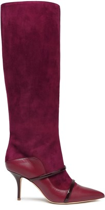 Malone Souliers Suede And Leather Knee Boots