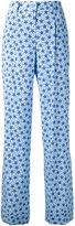 P.A.R.O.S.H. star print flared trousers - women - Silk/Spandex/Elastane - S