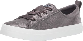 Sperry Womens Crest Vibe Glitter Suede Sneaker