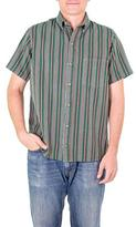 Men's Green Striped Cotton Short Sleeve Shirt from Guatemala, 'Grove of Coban'