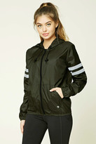 Forever 21 Active Striped Windbreaker