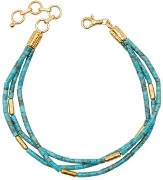 Gurhan 24kt gold Jet Set triple strand bracelet