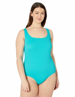 Catalina Women's Plus-Size Ribbed One Piece Swimsuit