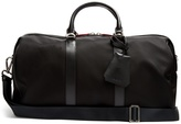 Neil Barrett Leather-trimmed nylon holdall