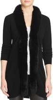 Bloomingdale's C by Fox Fur-Trim Cashmere Cardigan