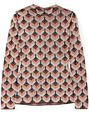 Paco Rabanne Metallic Jacquard-knit Top