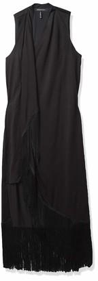 BCBGMAXAZRIA Women's Asymmetric Fringe Dress