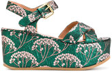 L'Autre Chose jacquard wedge sandals
