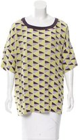M Missoni Silk Printed Top