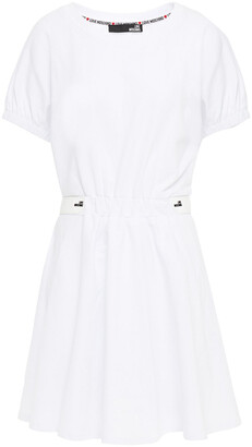 Love Moschino Gathered French Cotton-blend Terry Mini Dress