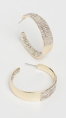 Stella + Ruby Gold Crystal Hoop Earrings