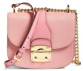 Miu Miu Madras Leather Crossbody Bag - Pink