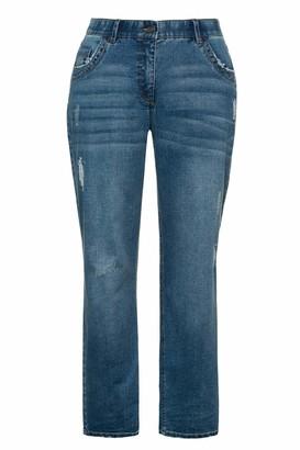 Ulla Popken Women's Jeans Mit Leichter Waschung Boyfriend